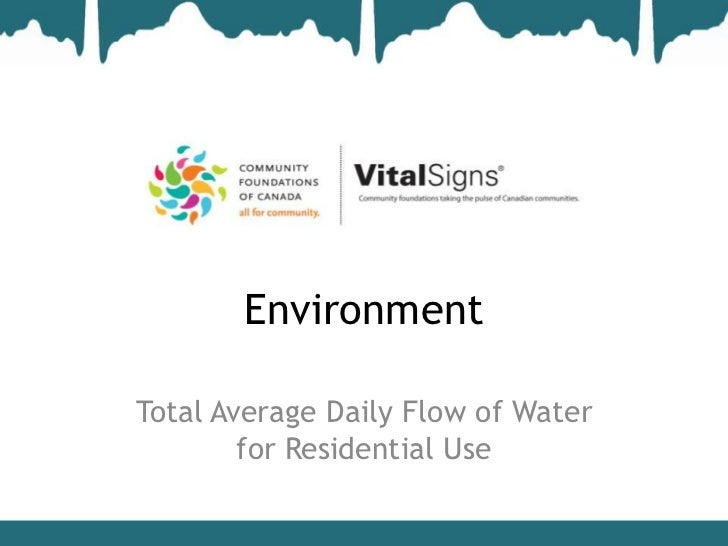 EnvironmentTotal Average Daily Flow of Water        for Residential Use