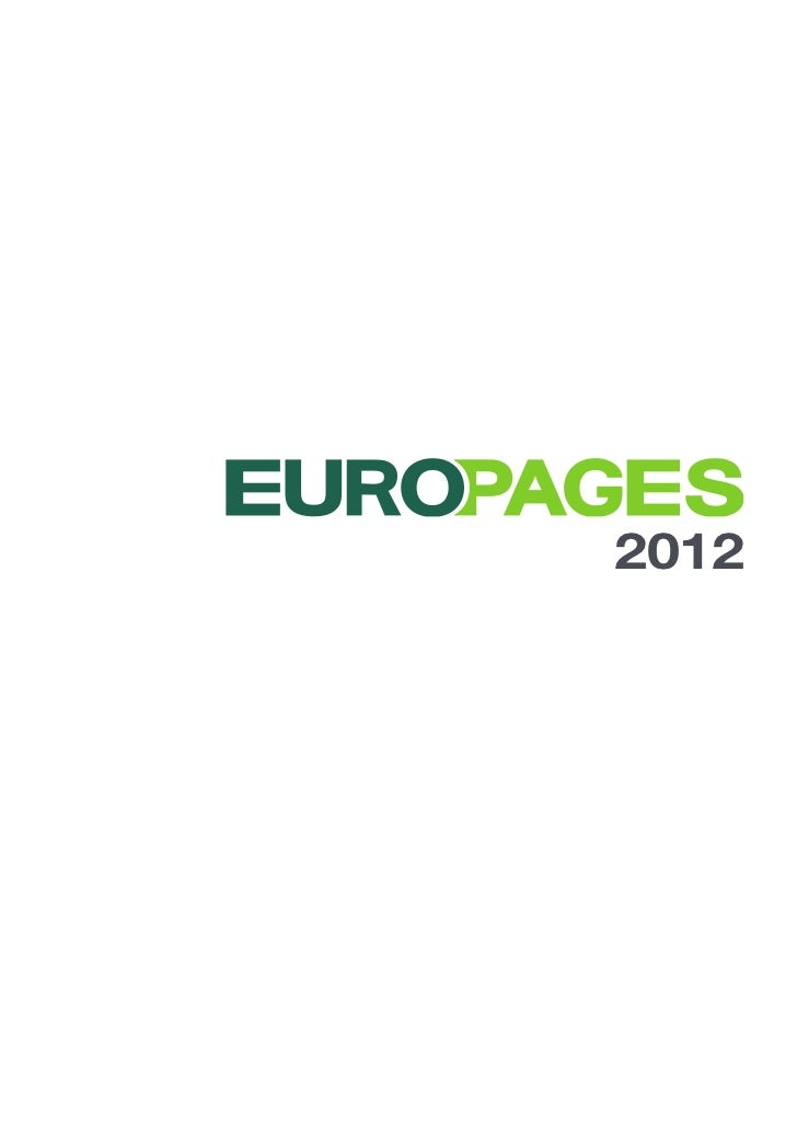 2012 Europages