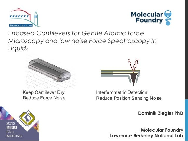 Encased Cantilevers for Gentle Atomic forceMicroscopy and low noise Force Spectroscopy InLiquids    Keep Cantilever Dry   ...