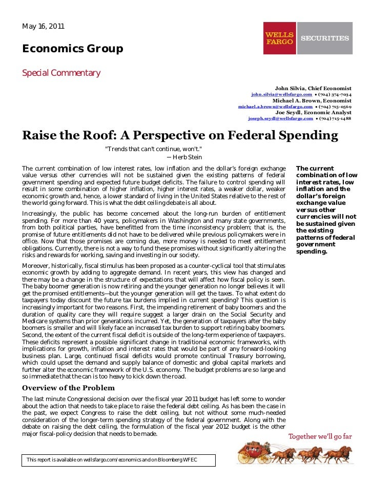 May 16, 2011Economics GroupSpecial Commentary                                                                             ...