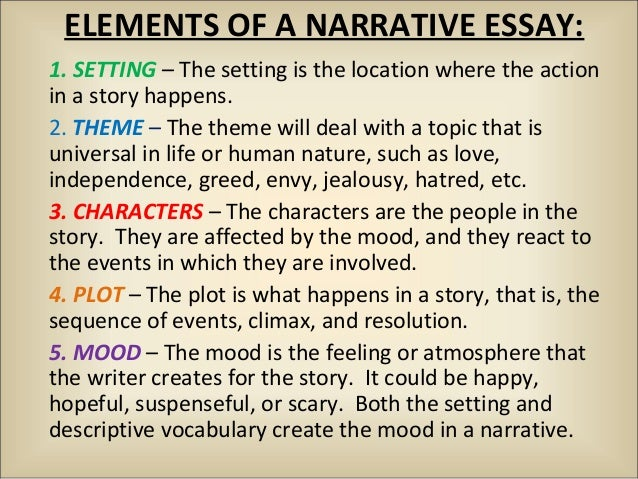 Topic narrative essay