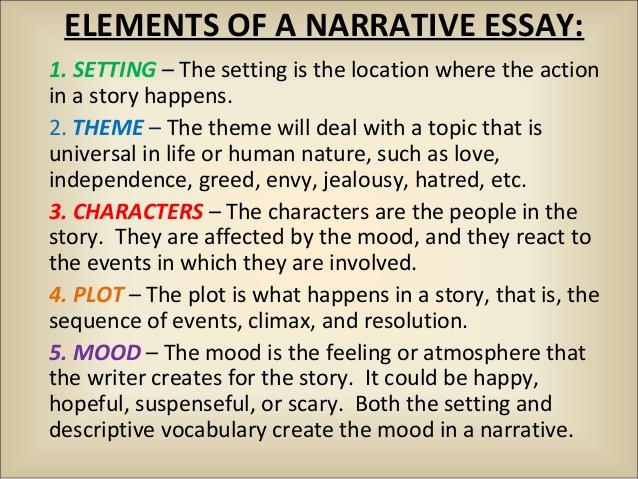 Narrative essay: outline, format, structure, topics, examples