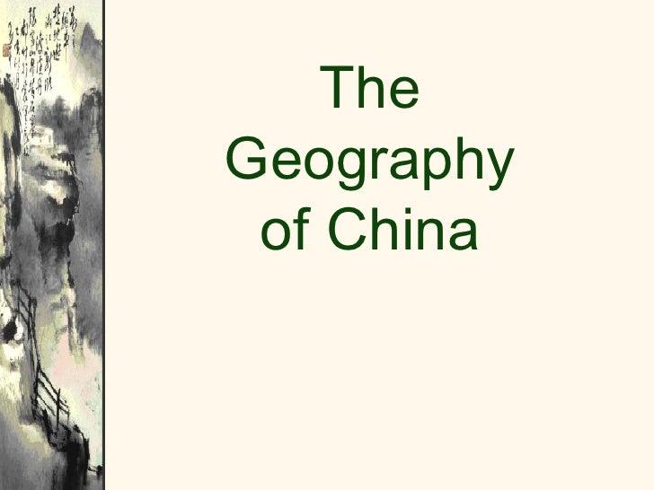 2012 China Geography
