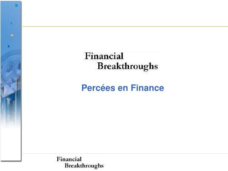 Percées en Finance