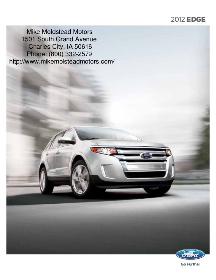 2012 Ford Edge Brochure Mason City Ford Waverly Ford