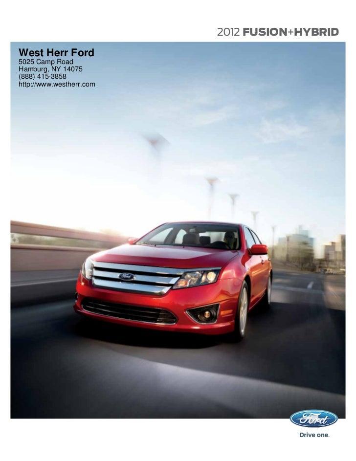2012 Ford Fusion For Sale NY | Ford Dealer Near Buffalo