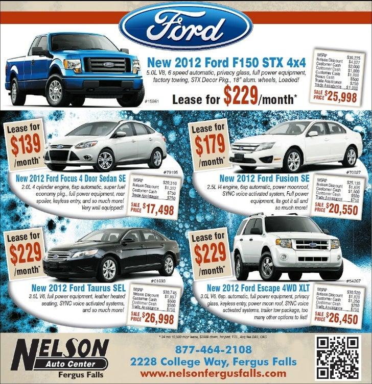 Ford Leasing: 2012 Ford Lease Special Near Fargo MN