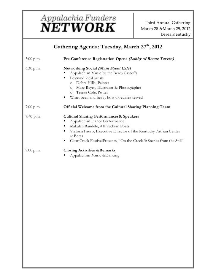 Third Annual Gathering                                                             March 28 &March 29, 2012               ...
