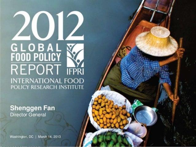 2012 GFPR Launch at IFPRI March 14 2013