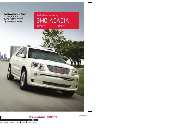 2012 GMC Acadia For Sale IL   GMC Dealer Near Chicago