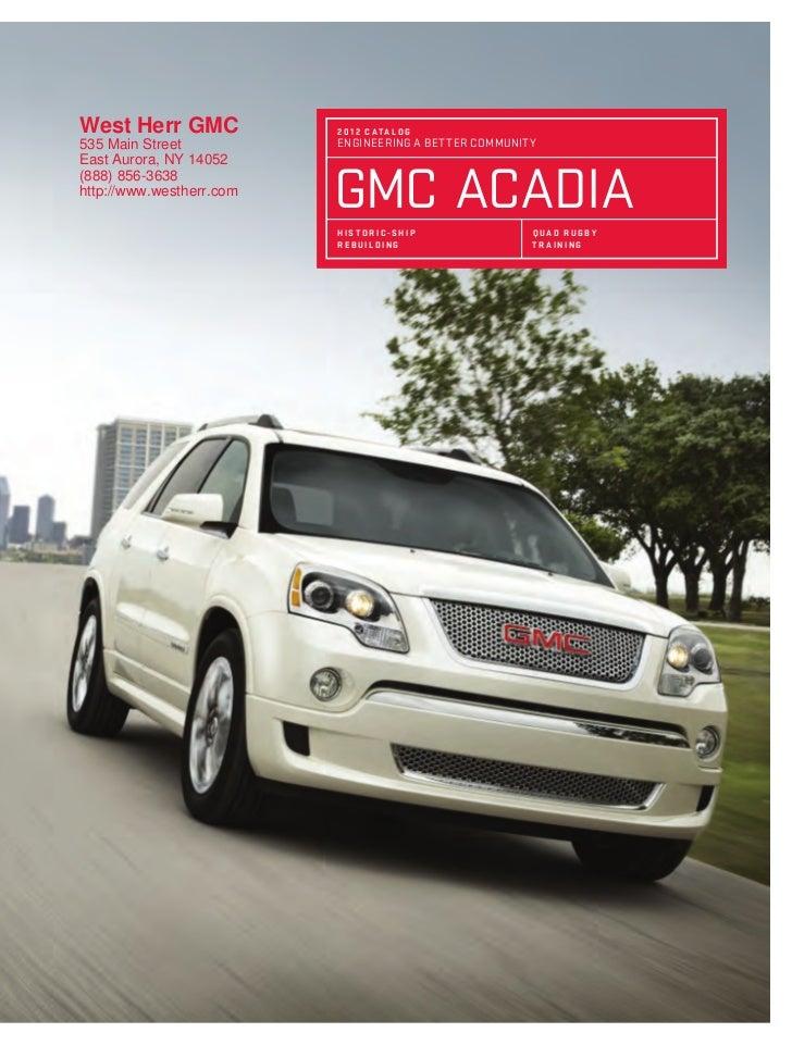 2012 Gmc Acadia For Sale Ny Gmc Dealer Near Buffalo
