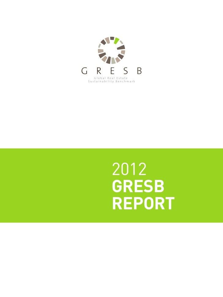 2012 Gresb Report