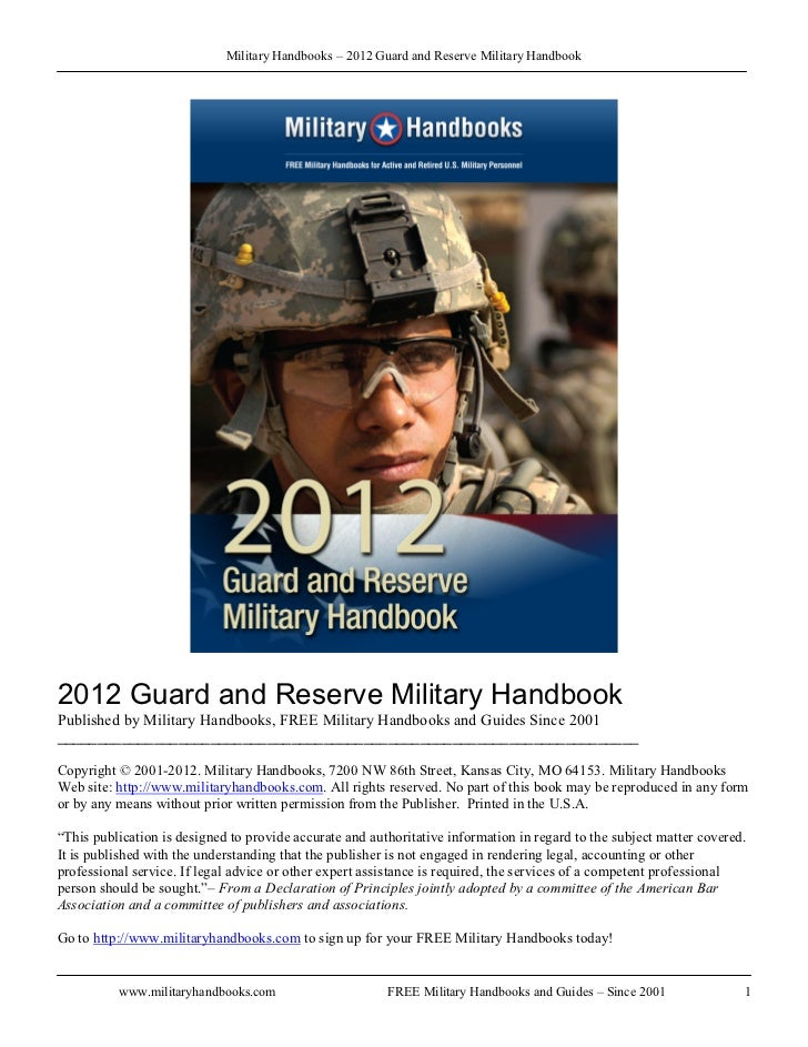 Military Handbooks – 2012 Guard and Reserve Military Handbook2012 Guard and Reserve Military HandbookPublished by Military...