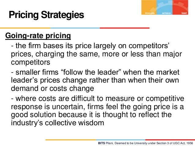 pricing strategy of fmcg firms Pharmaceutical companies pharmaceutical companies face strong pricing competition from companies manufacturing generic equivalents of their brand-name drugs, but they avoid reacting with pricing strategies and turn instead to non-pricing strategy.