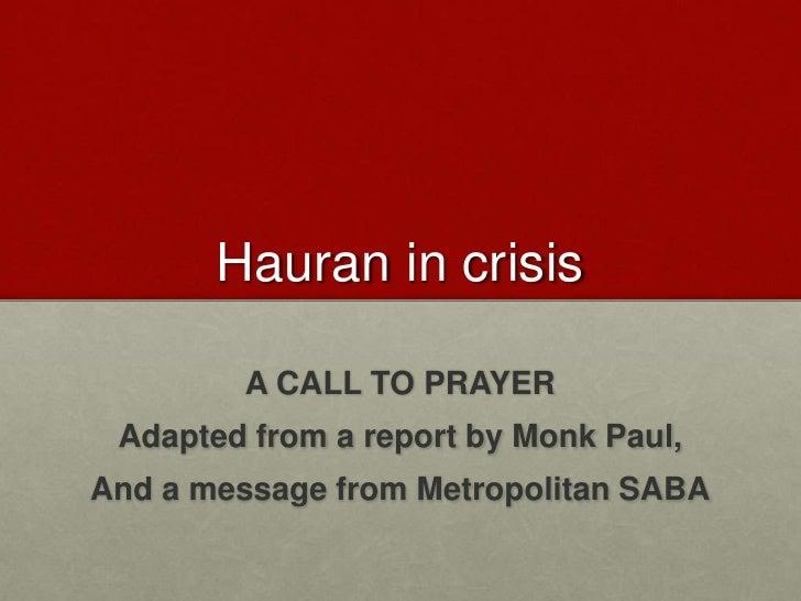 Hauran in Crisis