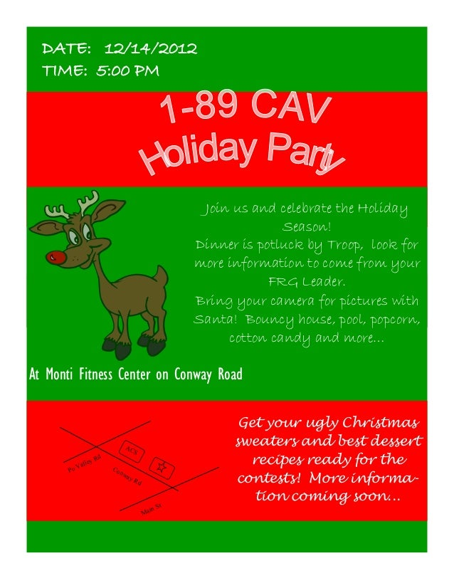 DATE: 12/14/2012  TIME: 5:00 PM                                                          Join us and celebrate the Holiday...