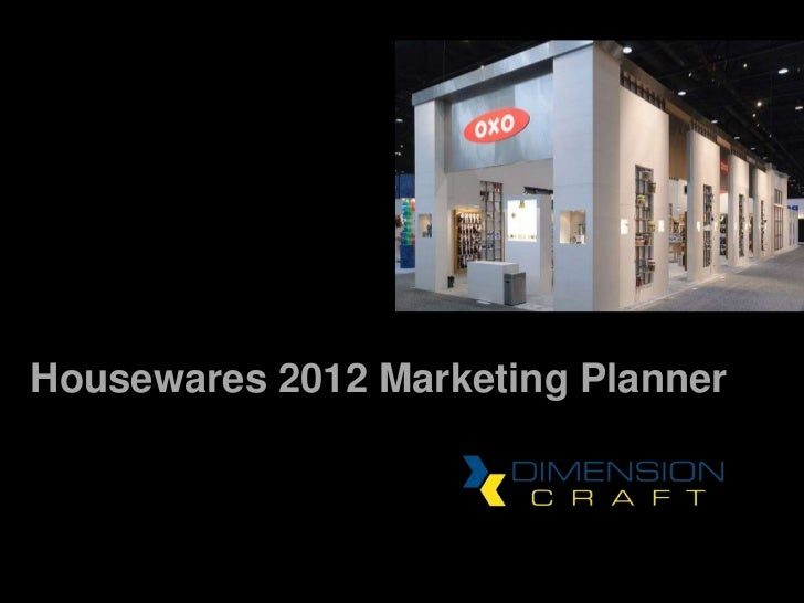 2012 Housewares Show Marketing Planner