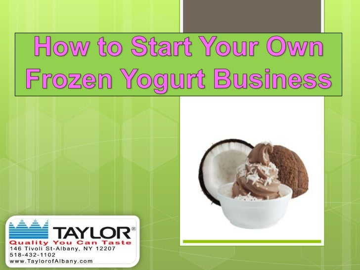 frozen yogurt business plan
