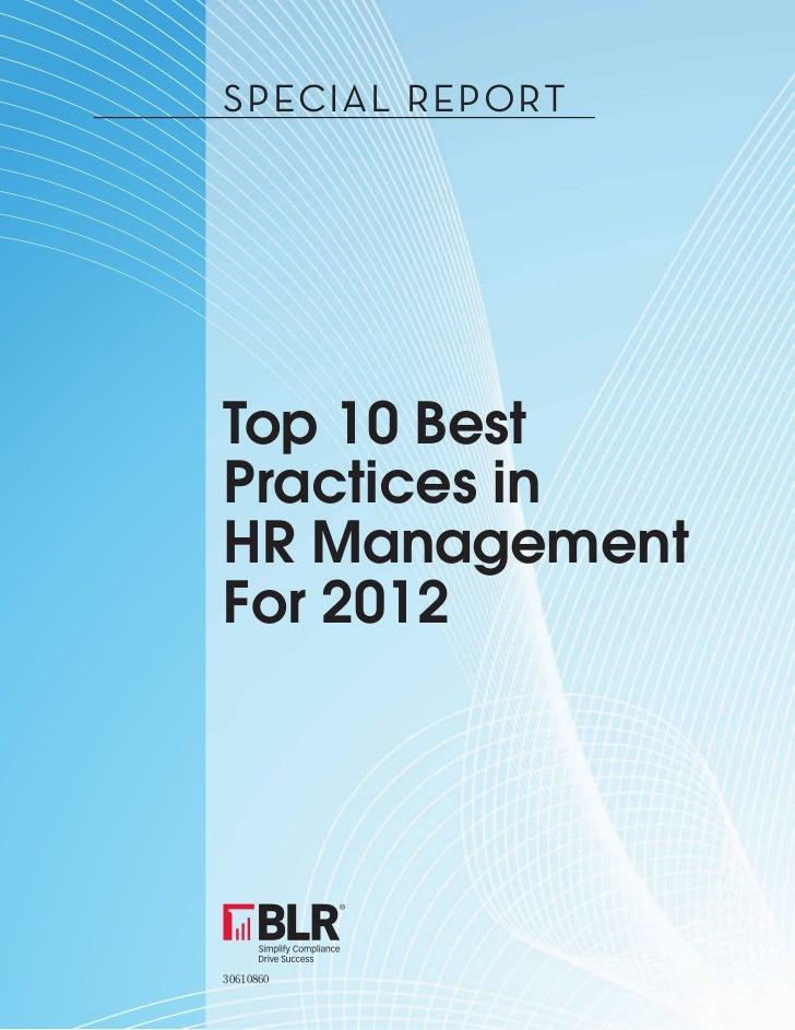 Human Resources top 10