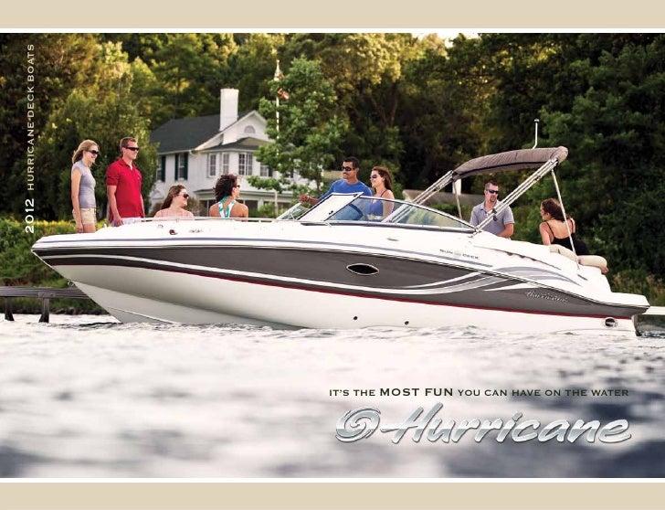 2012 Hurricane Boat Brochure