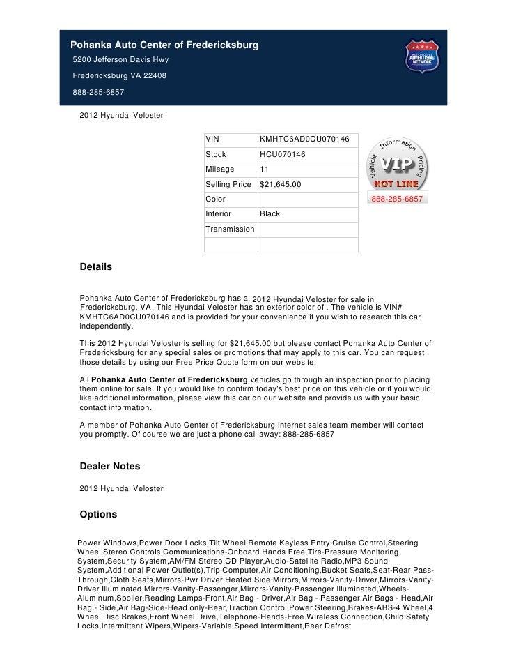 2012 hyundai veloster for sale in fredericksburg, va