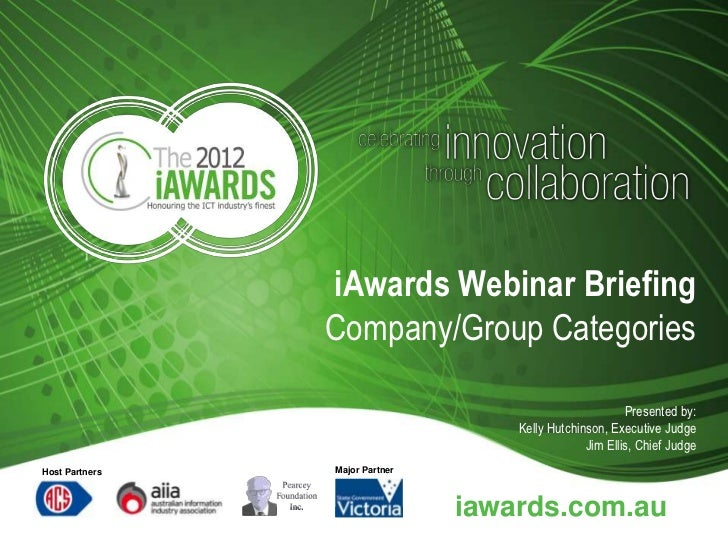 iAwards Webinar Briefing                Company/Group Categories                                                         P...