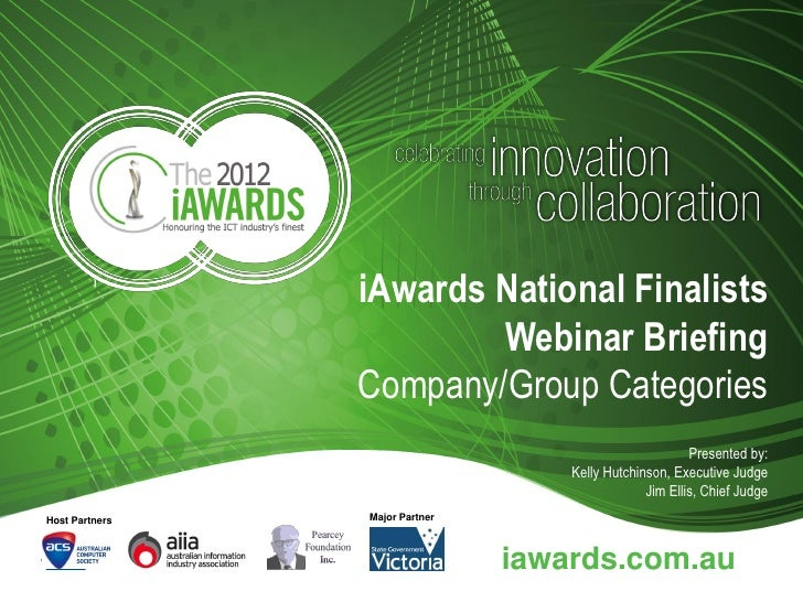 2012 i awards finalist briefing company categories