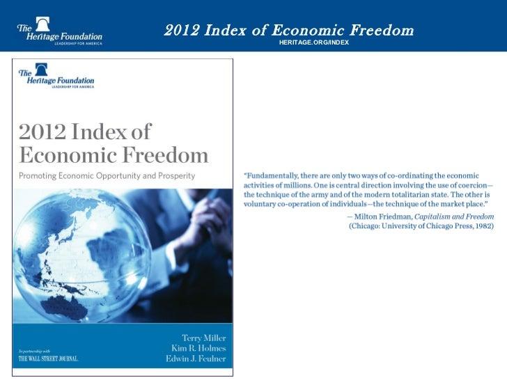 2012 Index of Economic Freedom  HERITAGE.ORG/INDEX