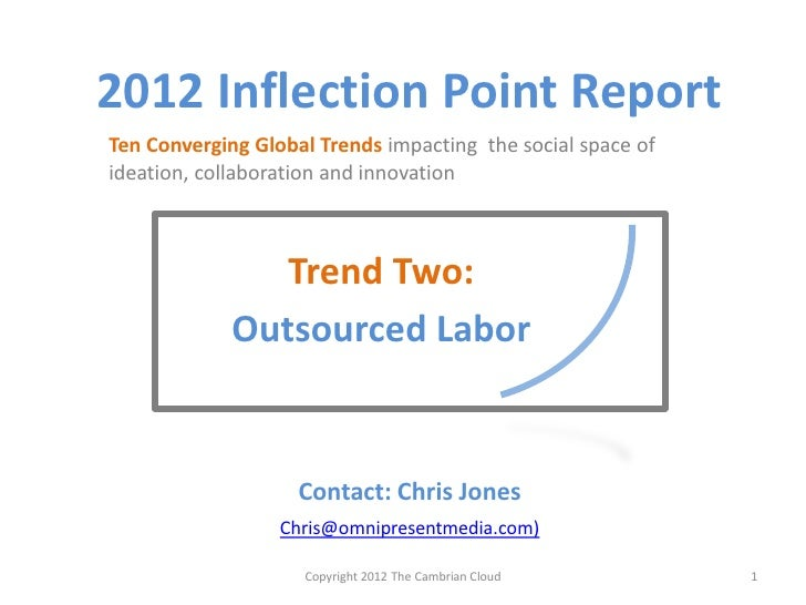 2012 Inflection Point Report Trend Two Outsourced Labor: Major trends research notes