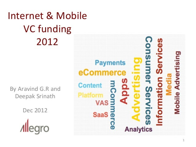 Internet	  &	  Mobile	      VC	  funding	  	          2012	  By	  Aravind	  G.R	  and	  	  	  	  	  	  	  	  	  	  	  	  	...
