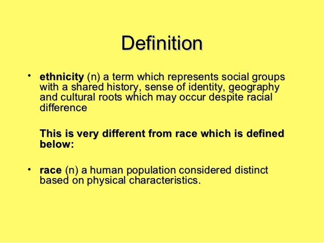 compare and contrast race and ethnic groups Inclusion - the orderly integration and assimilation of particular racial and ethnic groups  accommodation, a critical condition in the race relations cycle,.
