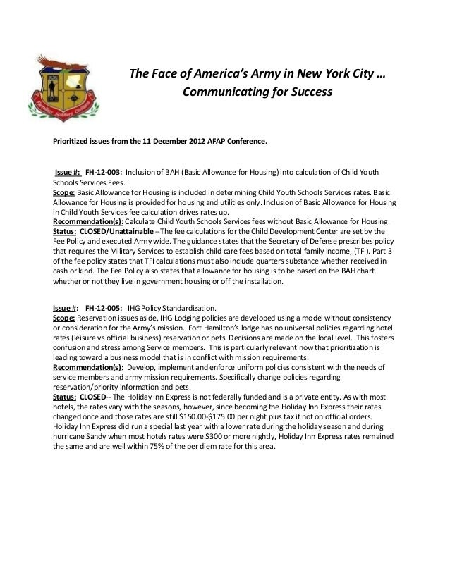 The Face of America's Army in New York City …                                 Communicating for SuccessPrioritized issues ...