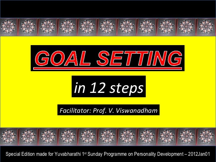 in 12 steps Facilitator: Prof. V. Viswanadham Special Edition made for Yuvabharathi 1 st  Sunday Programme on Personality ...