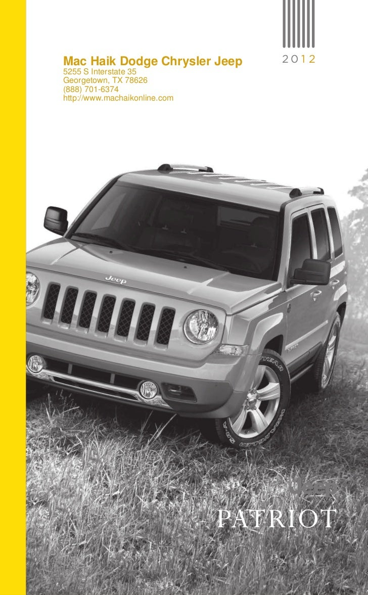 2012 Jeep Patriot For Sale TX | Jeep Dealer Near Austin