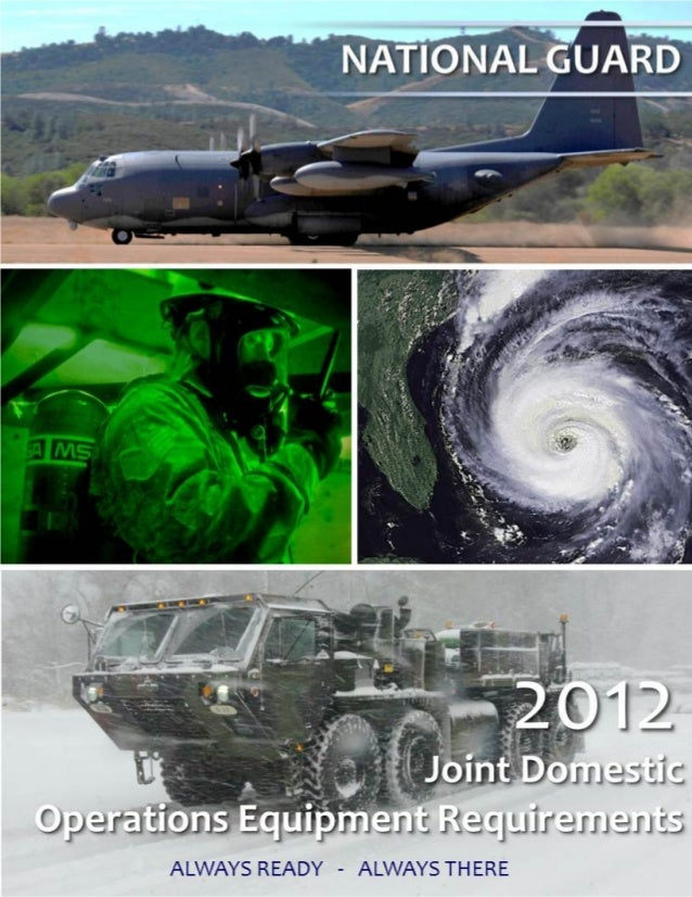 2012 Joint Domestic Requirements Document (National Guard)