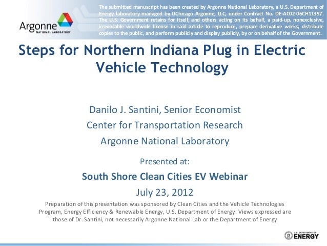 Steps for Northern Indiana Plug-In Electric Vehicle Technology