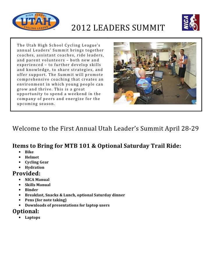 2012 Leader's Summit Packet & Agenda