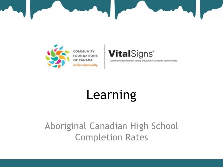 LearningAboriginal Canadian High School       Completion Rates