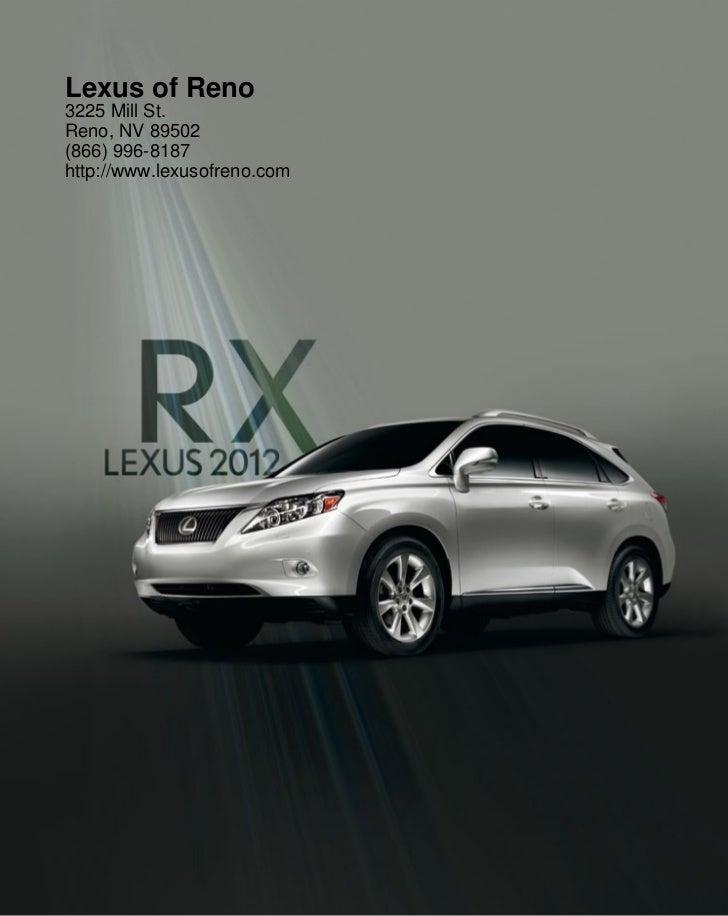 2012 Lexus RX For Sale NV | Lexus Dealer Nevada