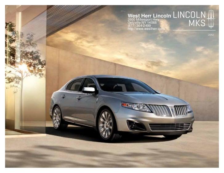 2012 Lincoln MKS For Sale NY | Lincoln Dealer Near Buffalo