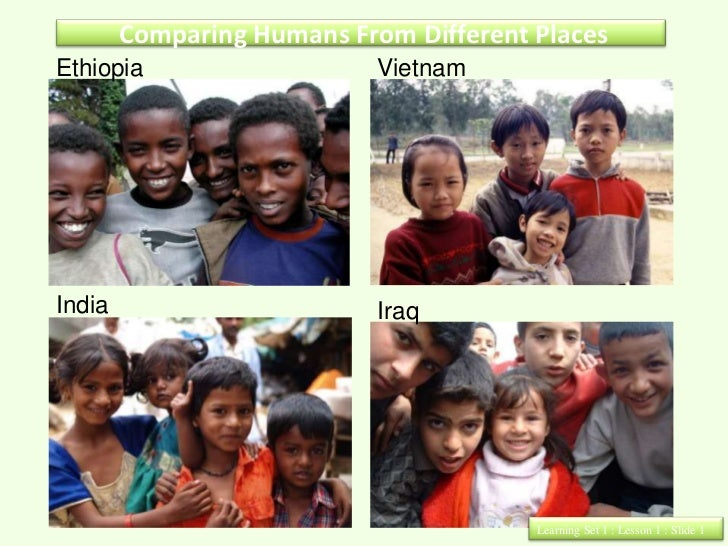 Comparing Humans From Different PlacesEthiopia                    VietnamIndia                       Iraq                 ...