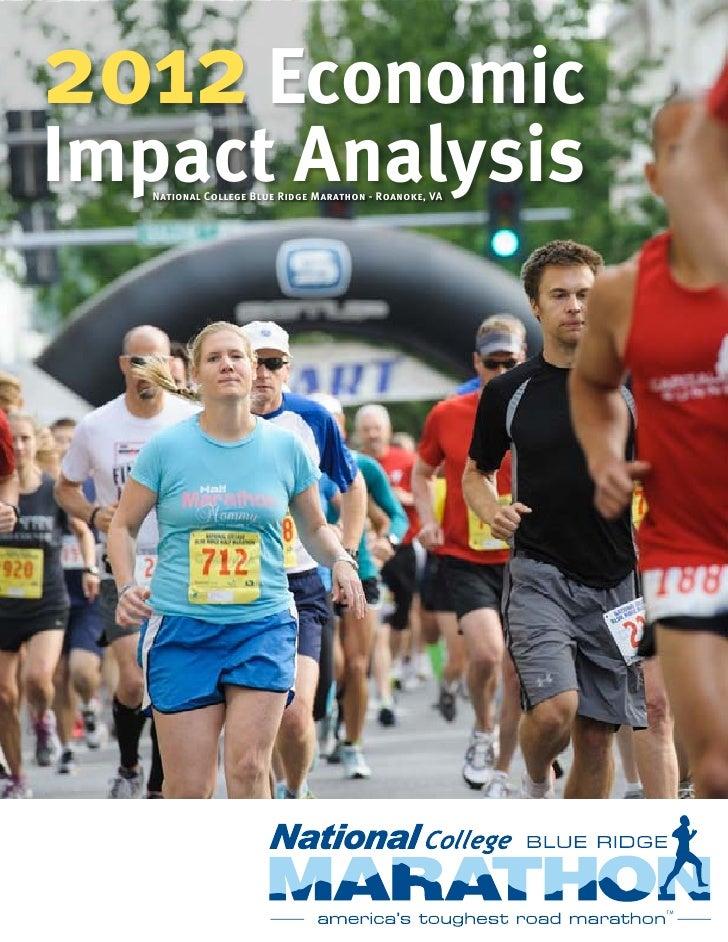 2012 EconomicImpact Analysis   National College Blue Ridge Marathon - Roanoke, VA                                         ...