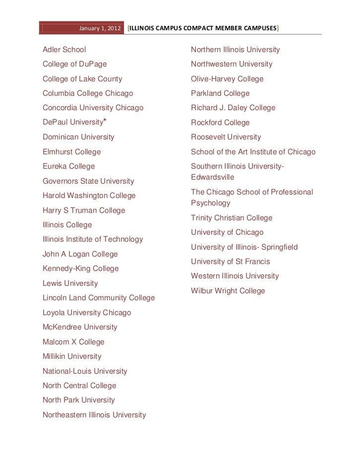 2012 member campus list