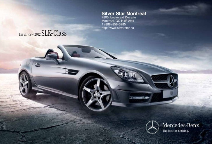 2012 Mercedes-Benz SLK-Class For Sale QC | Mercedes-Benz Dealer Montreal