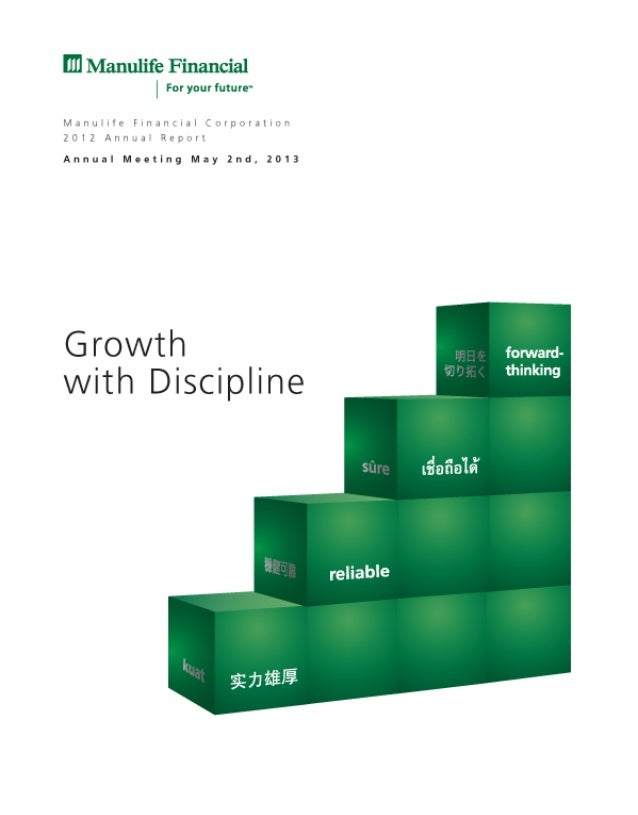 2012 Manulife Financial CorporationAnnual ReportTABLE OF CONTENTS     9       Management's Discussion and Analysis        ...