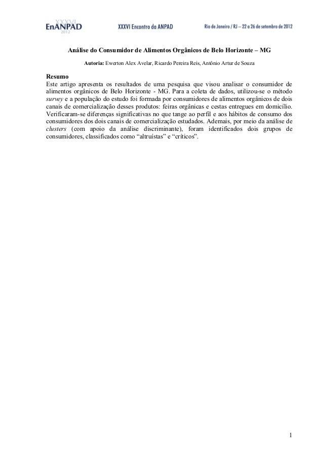 2012 mkt2120 análise do consumidor de alimentos orgânicos de belo horizonte – mg