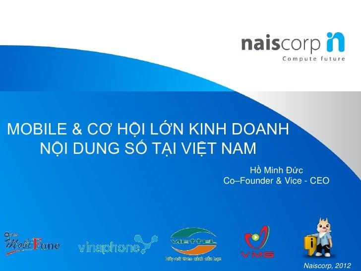 Nôi dung số: Naiscorp & mô hình kinh doanh nội dung số
