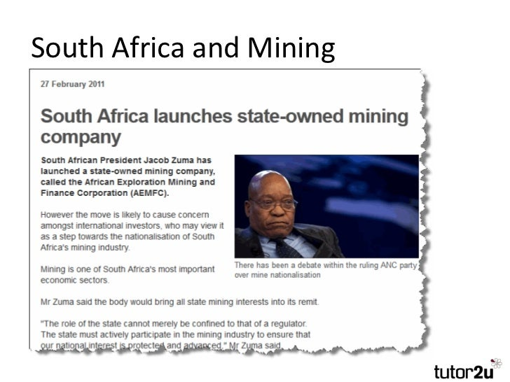 nationalisation of the mines in south africa economics essay Below is an essay on nationalization of south african mines from anti essays, your source for research papers, essays, and term paper examples nationilization of mines in south africa introduction.