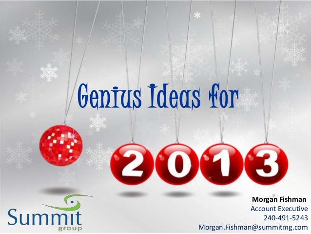 Genius Ideas for                          Morgan Fishman                          Account Executive                       ...