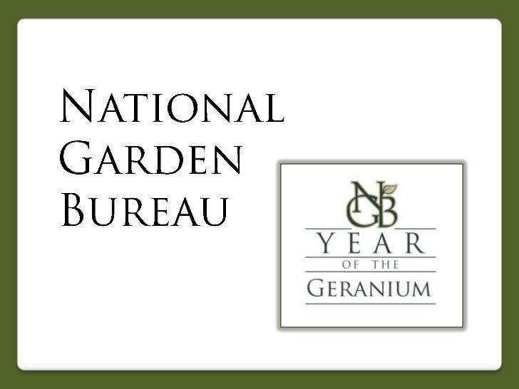 2012 National Garden Bureau Year of the Geranium